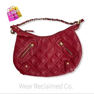 🛍3/$30 90's LE CHATEAU Hobo Banana Quilted Purse